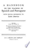 A Handbook on the Teaching of Spanish and Portuguese