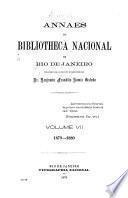 Anais da Biblioteca nacional do Rio de Janeiro