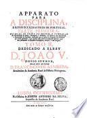 Apparato para a disciplina ... de Portugal