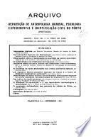 Arquivo da Repartição de Antropologia Criminal, Psicologia Experimental e Identificação Civil do Po'rto (Portugal)