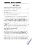 Arquivos de biologia e tecnologia