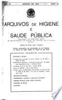 Arquivos de higiene e saúde pública