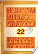 Boletim bibliográfico