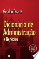 Dicionário de Administração