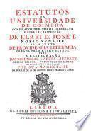 Estatutos da Universidade de Coimbra, compilados debaixo da immediata e suprema inspecçao de el rei D. José I ...