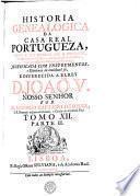 HISTORIA GENEALOGICA DA CASA REAL PORTUGUEZA