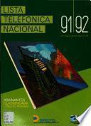 Lista telefónica nacional