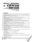 Revista brasileira de ciências sociais