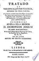 Tratado da versificaçaõ portugueza